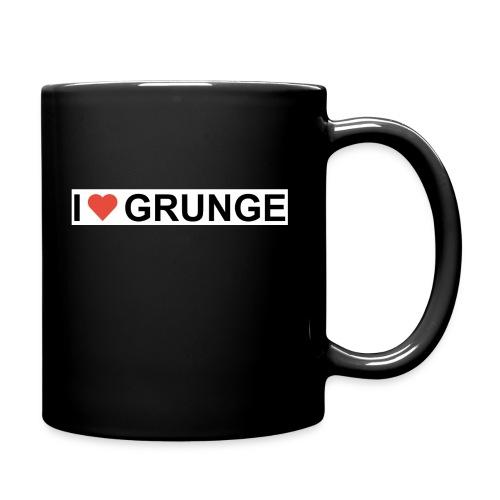 I LOVE GRUNGE - Ensfarvet krus