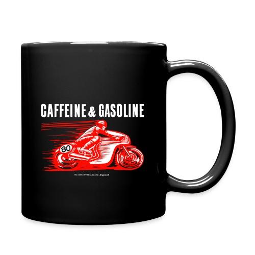 Caffeine & Gasoline white text - Full Colour Mug