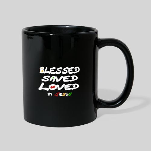 Blessed Saved Loved by Jesus - Tasse einfarbig