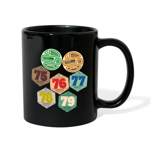 Vignettes automobiles années 70 - Mug uni