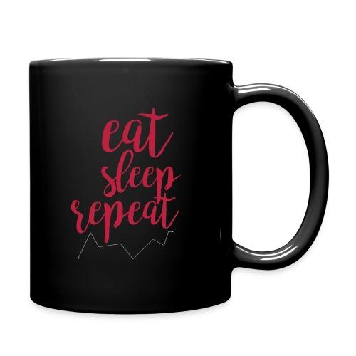 eat sleep repeat - Taza de un color