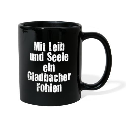 Mit Leib und Seele ein Gladbacher Fohlen1 - Tasse einfarbig