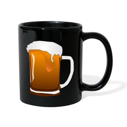 Cartoon Bier Geschenkidee Biermaß - Tasse einfarbig