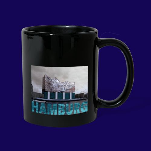 Elbphilharmonie   HAMBURG-Typo  Künstlermotiv - Tasse einfarbig