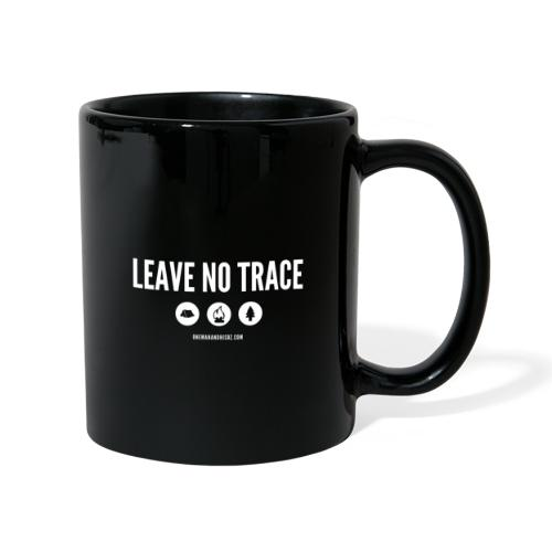 LEAVE NO TRACE Slogan - Full Colour Mug