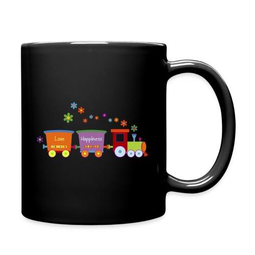 Eisenbahn Kinderspielzeug Zug Frühlingsblumen bunt - Full Colour Mug