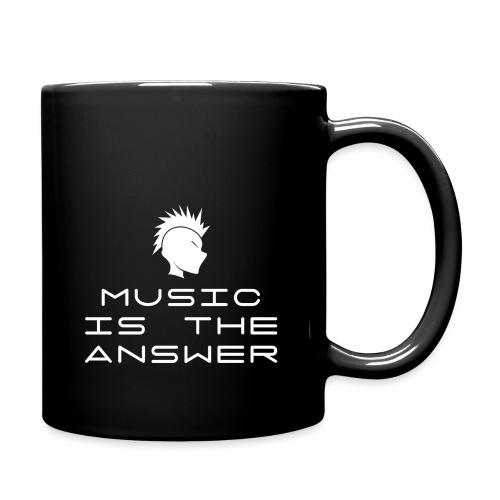 Mohawk Logo - Music is the Answer - Full Colour Mug