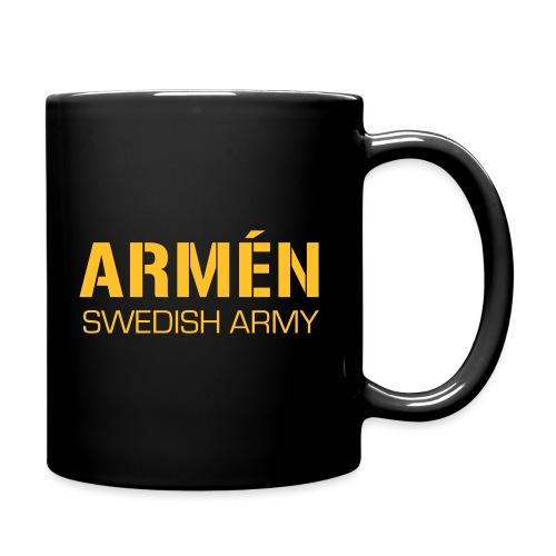 ARMÉN -Swedish Army - Enfärgad mugg