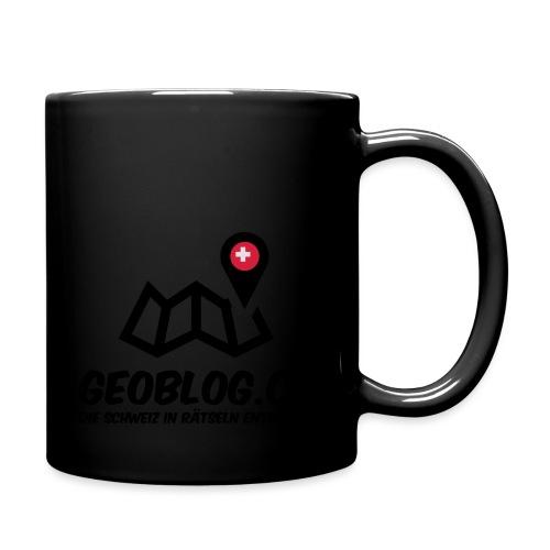 Logo+Schriftzug-hoch - Tasse einfarbig