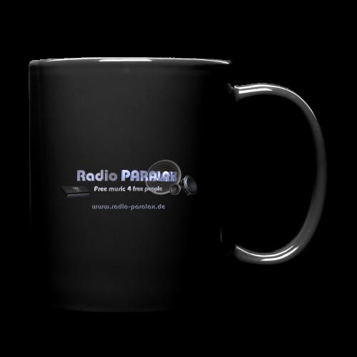 Radio PARALAX Facebook-Logo mit Webadresse - Tasse einfarbig