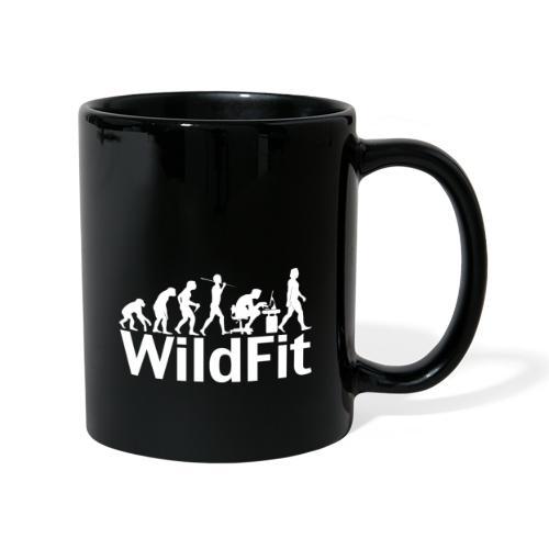WildFit Logo Evolution Weiß - Tasse einfarbig