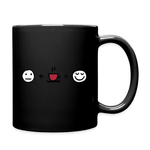 Coffee makes me happy - Tasse einfarbig