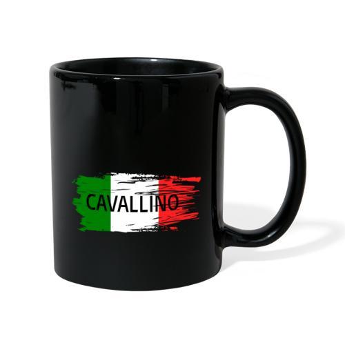 Cavallino auf Flagge - Tasse einfarbig