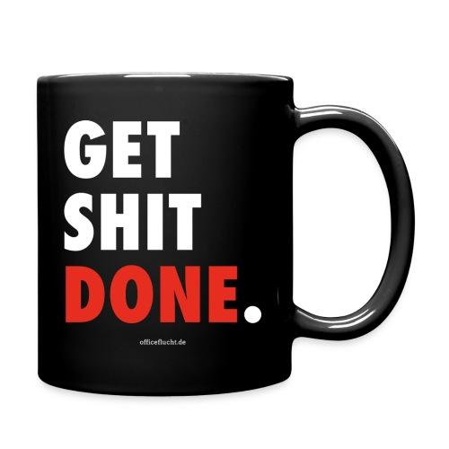 Get-shit-done-font-weiß - Tasse einfarbig