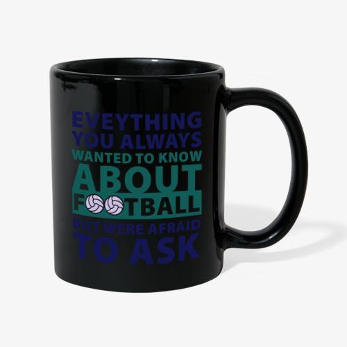 Todo sobre el fútbol - Taza de un color