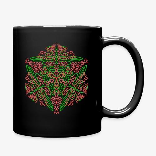 Neon Star - Mandala - Tasse einfarbig