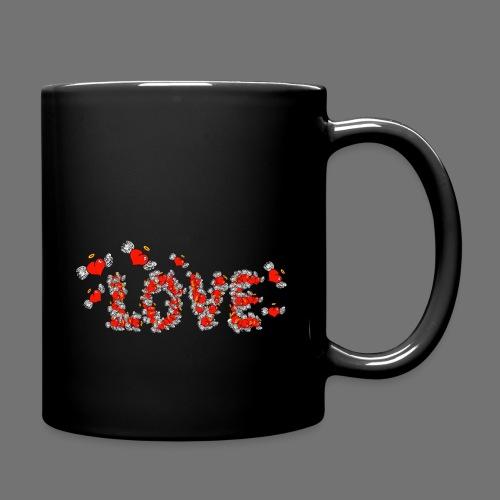 Flying Hearts LOVE - Yksivärinen muki