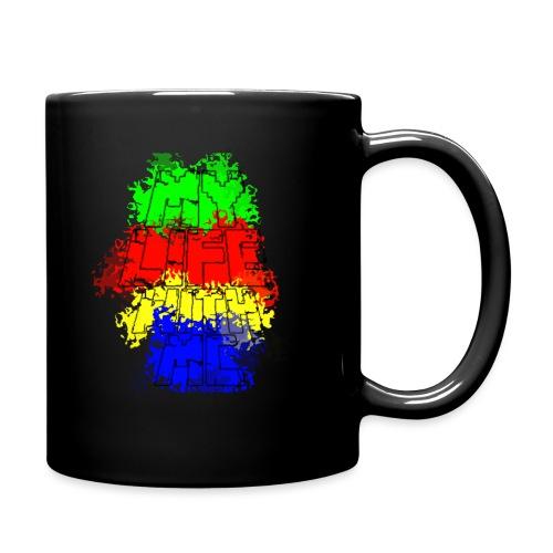 Den Officielle My Life With Minecraft Logo - Ensfarvet krus