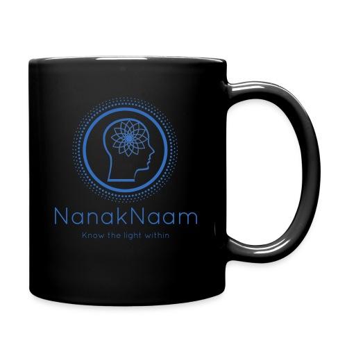 Nanak Naam Logo and Name - Blue - Full Colour Mug