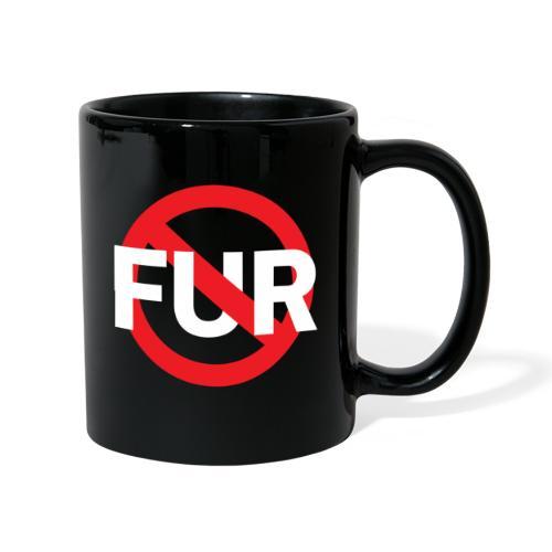 Fuck fur! White - Enfärgad mugg