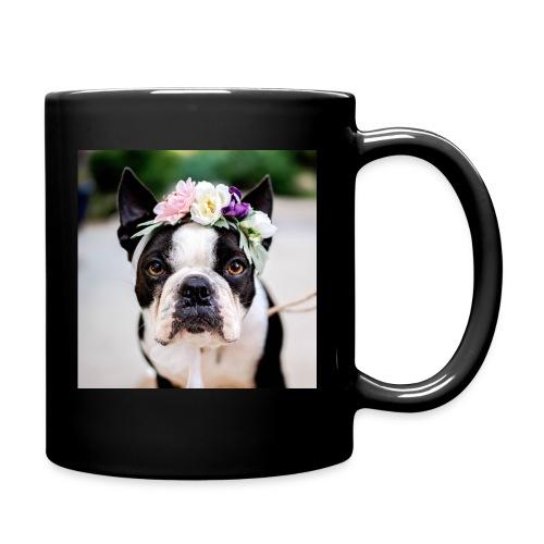 Blumenhund - Tasse einfarbig