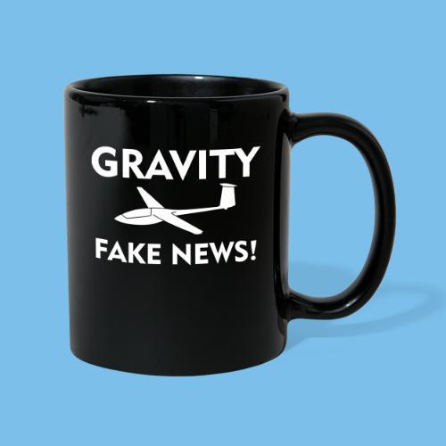 fake news Schwerkraft Segelflieger Segelflugzeug - Tasse einfarbig