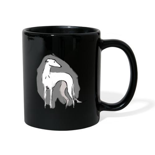 Weißer Windhund - Tasse einfarbig