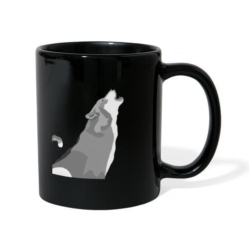 Wolf heulend - Tasse einfarbig