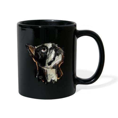 Französische Bulldogge Zeichnung - Tasse einfarbig