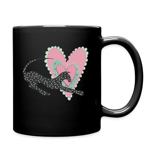 Rosa prickar hjärta - Enfärgad mugg