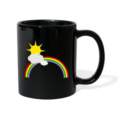 Regenbogen, Sonne, Wolken - Tasse einfarbig