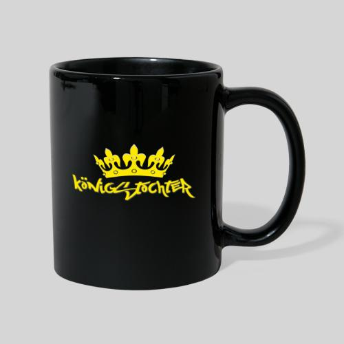 Königstochter m. Krone über der stylischen Schrift - Tasse einfarbig