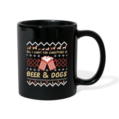 Beer and Dogs Christmas - Yksivärinen muki