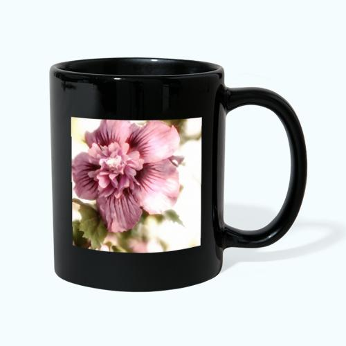 Pink flower watercolor minimalism - Full Colour Mug