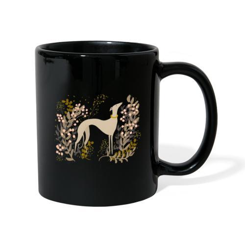 heller Windhund im Herbst - Tasse einfarbig