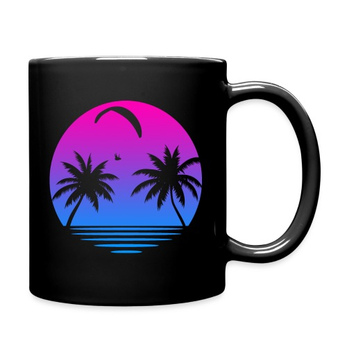 Paragliding Sunset - Tasse einfarbig