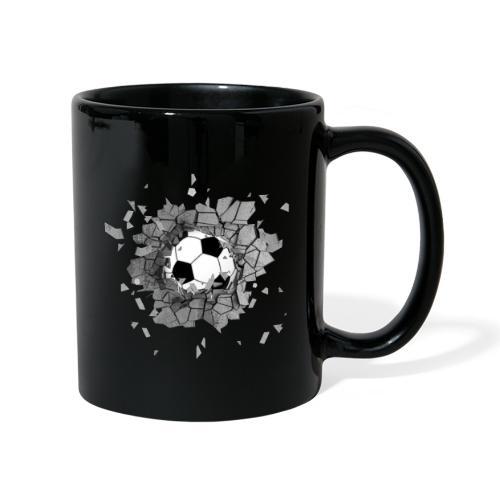 Football durch wand - Tasse einfarbig
