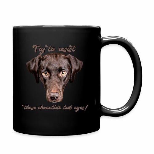 Labrador chocolate lab Labbi Spruch - Tasse einfarbig