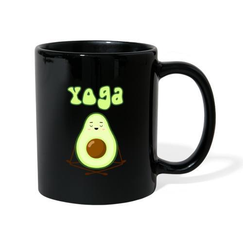 yoga avocado namaste pace amore hippie relax - Tazza monocolore