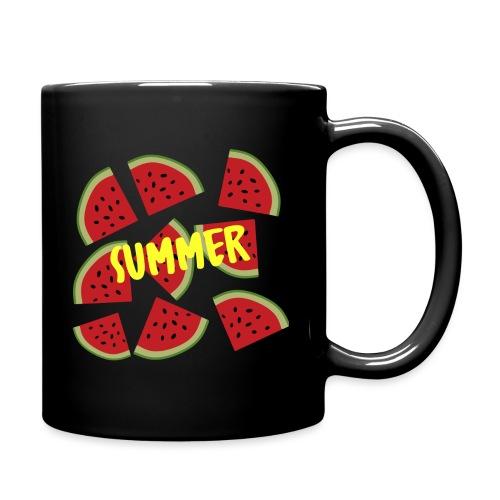Sommer Sonne Wassermelone - Tasse einfarbig
