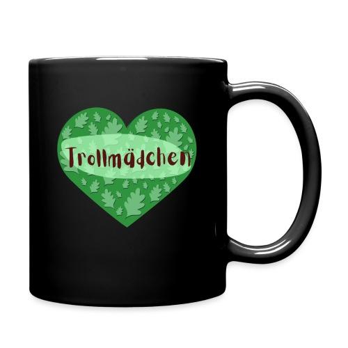 Trollmädchen grün - Tasse einfarbig