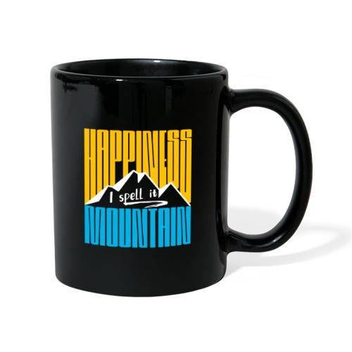 Happiness I spell it Mountain Outdoor Wandern Berg - Tasse einfarbig