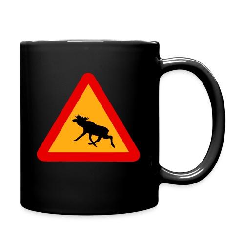 Warnung Elch! Älg! Moose! Schweden Sweden (vektor) - Tasse einfarbig