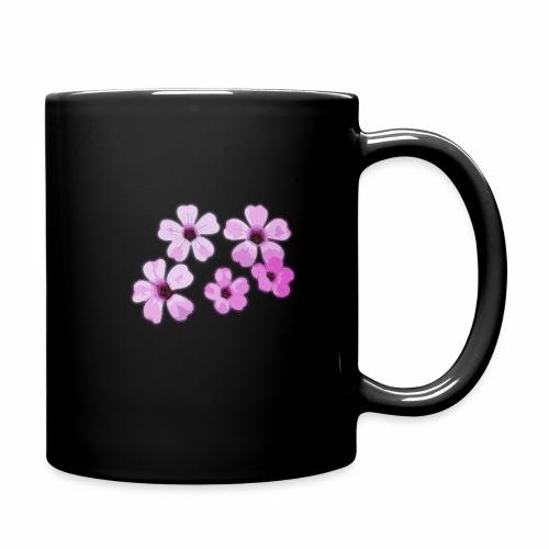 Blumen violett - Tasse einfarbig