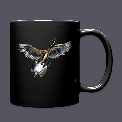 Greifvogel mitGitarrenbeute - Tasse einfarbig