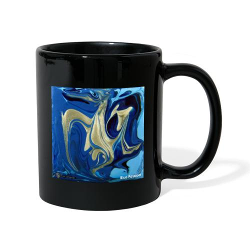 TIAN GREEN Welt Mosaik - AT042 Blue Passion - Tasse einfarbig
