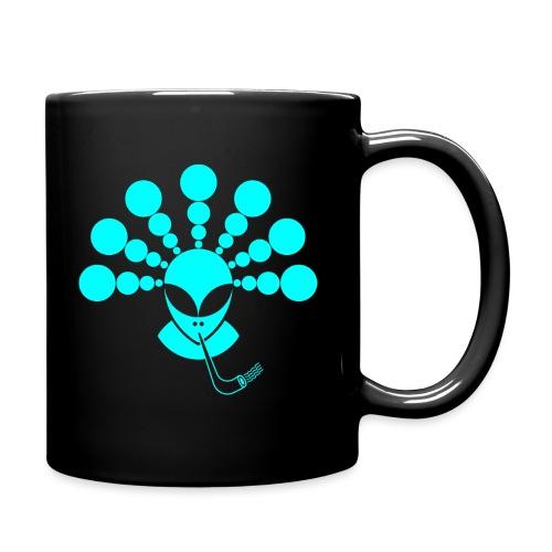 The Smoking Alien Light Blue - Full Colour Mug