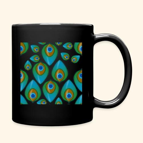 peacock tile png - Full Colour Mug