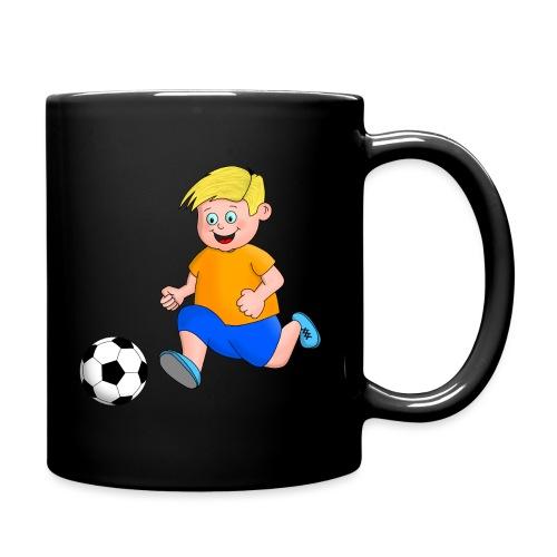 Junger Fußballer - Tasse einfarbig