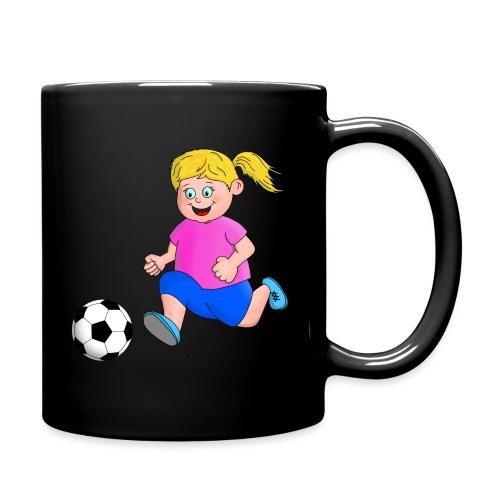 Fußball Mädchen - Tasse einfarbig
